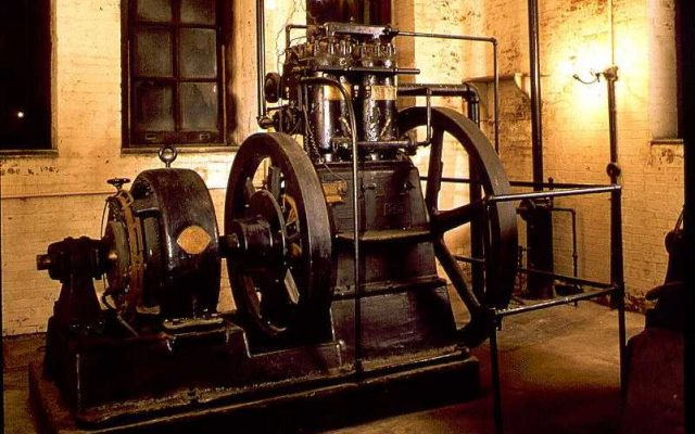 This massive generator is located in the basement of the Biltmore House. (Photograph courtesy of Biltmore Company. http://www.learnnc.org/lp/multimedia/5839)