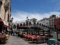 Rialto Bridge, Crowds of Venice and Venetian Masks