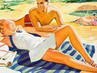 Sunbathing for body relaxation